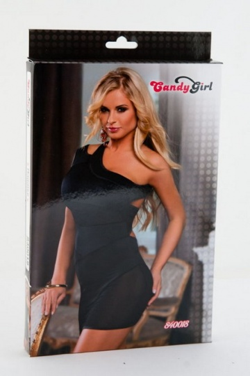 Облегающее платье с открытым плечом