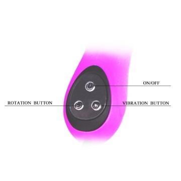 Перезаряжаемый вибратор Intimate с широкой головкой - 24 см.