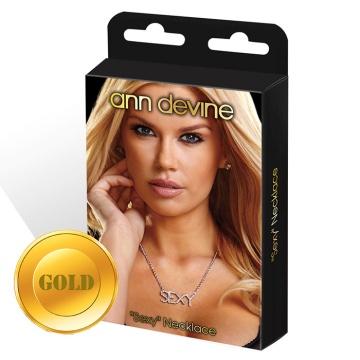 Золотистая цепочка с подвеской SEXY