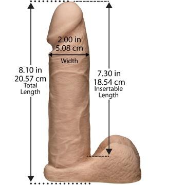 "Реалистичный страпон унисекс Vac-U-Lock Set 8"" ULTRASKYN Ultra Harness - 20,57 см."
