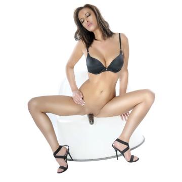 """Безремневой страпон с вагинальной пробкой и вибратором Vibrating """"Strapless"""" Strap-On - 18 см."""