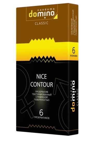 Презервативы с рёбрышками DOMINO Classic Nice Contour - 6 шт.