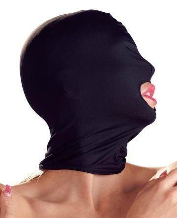 Черная закрытая маска с отверстием для рта