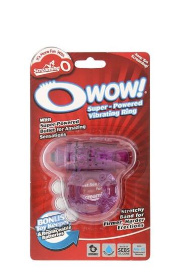 Фиолетовое эрекционное виброкольцо OWOW PURPLE