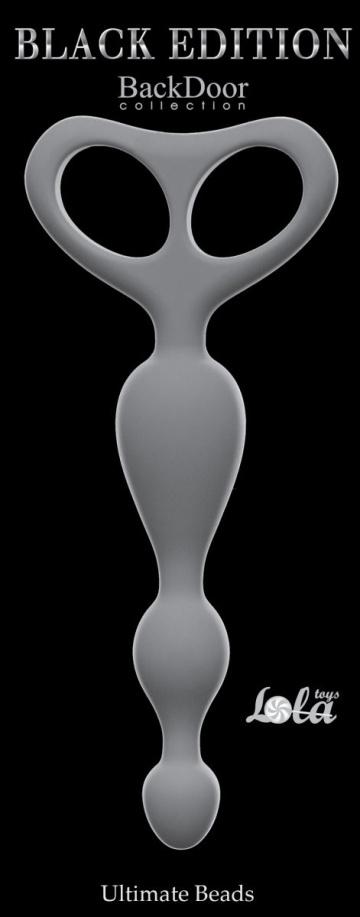Серая анальная цепочка Ultimate Beads - 17 см.