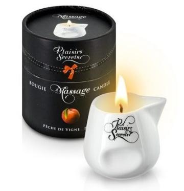 Массажная свеча с ароматом персика Bougie Massage Gourmande Pêche - 80 мл.