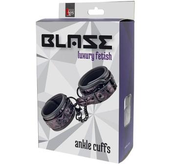 Фиолетово-чёрные оковы на ноги BLAZE ANKLE CUFF PURPLE