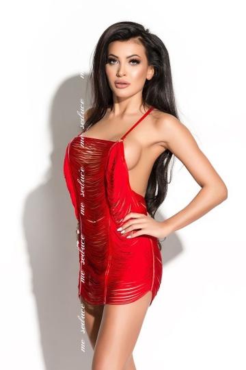 Нитяное коротенькое платье Samantha