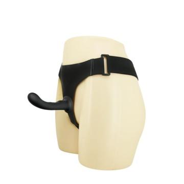 Страпон с изогнутой головкой Ultra Harness Curvy Dildo - 15,8 см.