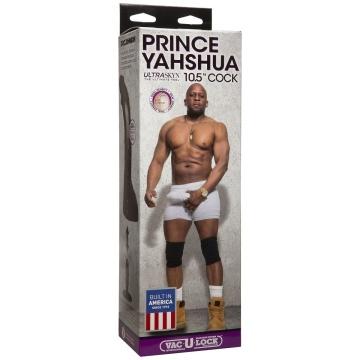 """Коричневый фаллоимитатор-гигант Prince Yahshua ULTRASKYN 10.5"""" Cock with Removable Vac-U-Lock Suction Cup - 27,4 см."""