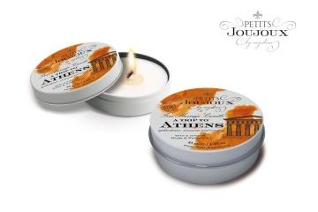 Массажная свеча Petits Joujoux Athens с ароматом муската и пачули - 33 гр.