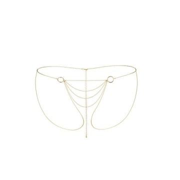 Трусики-бикини из цепочек золотистого цвета