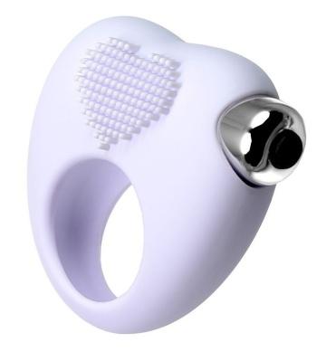 Белое виброкольцо для продления полового акта JOS MOYS